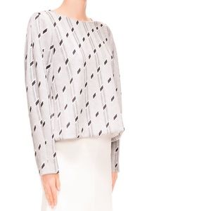 C/MEO Black and White Balloon Blouse